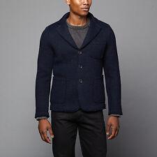 Slate &Stone Harrison Wool Knitted Notch Lapel Blazer Men Jacket Coat * M* Italy