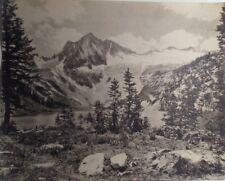 Beautiful Mountain Landscape Photo 8 X 10 stamped 7032 Unknown Photographer