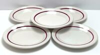 HOMER LAUGHLIN Best China Small Oval Plates Platters Restaurant Ware Maroon