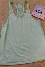 Victoria Secrets Sz Small Pink Mint Green Lace Tank & Lavender & Chill Face Mask