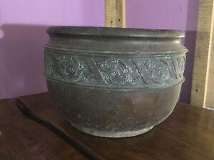 Lovely Arts & Crafts Copper Planter. Large Size. Aspidistra Plant Pot
