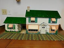 Vintage Marx Dollhouse With Game Room And Awnings