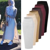 Muslim Women Thick Skirt Bodycon Slim High Waist Stretch Long Maxi Pencil Skirts