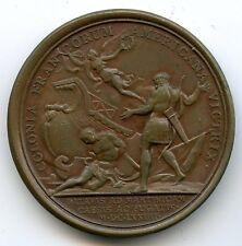 Louis XIV Médaille par Mauger Défaite des Hollandais à la Martinique 1674