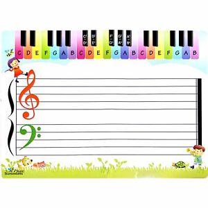 Music Bumblebees Erasable Music Teaching Sheet - Double Sided