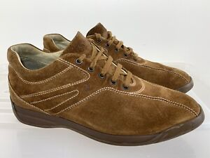 Mens TODS TOD'S Brown Classic Suede Lea Lace Up Casual Shoes Size 8.5 #19595