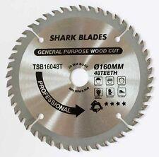 TCT Lame de scie circulaire 160 mm 48 dents de requin lames 160x48x20