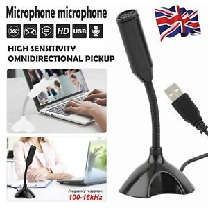 Universal USB Stand Mini Desktop Microphone Mic For PC Desktop Laptop MacBook🔥
