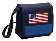 USA Flag Lunch Bag American Flag Lunchbox Cooler ADJ SHOULDER STRAP