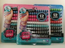 Cool Maker Kumi Kreator Makes 12 Bracelets Refill Pack Fantasy 90+ Spools -Lot 3