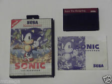 SONIC THE HEDGEHOG for SEGA MASTER SYSTEM 'VERY RARE & HARD TO FIND'