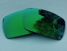 ENGRAVED POLARIZED GREEN MIRRORED REPLACEMENT OAKLEY GASCAN S LENSES