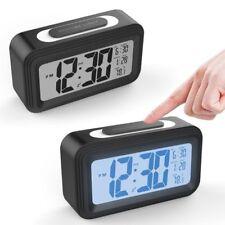 LCD Wecker Digital Alarm Wecker mit Temperaturanzeige Kalender Schwarz Modern DE