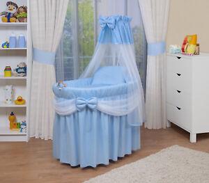 WALDIN Baby Bollerwagen,Stubenwagen,komplett mit Zubehör,XXL NEU !!! Blau/Weiß