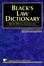 Black's Law Dictionary: Definitions of the Terms and Phrases of American and Eng