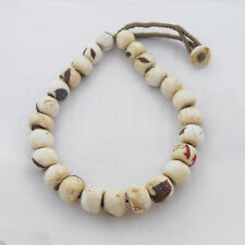 "Old Naga Sacred Chonch Shell Necklace 20"" Tibetan Nepalese Handmade Nepal UN1883"