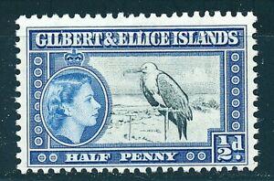 GILBERT AND ELLICE ISLANDS 1956 SG64 ½d. GREAT FRIGATE BIRD -  MNH