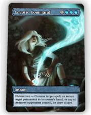 === 4X Cryptic Command X4 == Full Art Borderless == Magic Lotus Cards