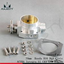 Aluminum 70mm Throttle Body Honda B16 B18 Civic ACURA Integra SI CRX GSR Engine
