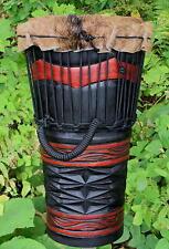 20x11 Deep Carved Geometric Ashiko, Djembe Bongo Hand Drum - Blemish Discount
