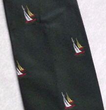 Yacht a Vela Crested club associazione Tie Cravatta 1970s 1980s VERDE SCURO Tootal