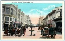 OCEAN PARK, SANTA MONICA California CA  Crowd  THE STRAND  1942   Postcard