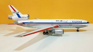 1:200 INF200 United Airlines DC-10-10 N1801U Polished With Stand
