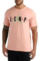 JORDAN JSW Jumpman T-Shirt sz 3XL XXX-Large Pink Coral Stardust Bone Black