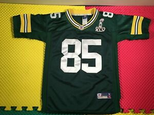 Greg Jennings Green Bay Packers Super Bowl Reebok Sewn Jersey Youth Size S 10-12