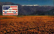 California Kalifornien USA America AK ~1970 Postcard gelaufen Briefmarke vorn