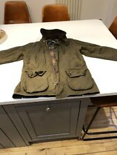 Unisex Barbour Classic Bedale Waxed Jacket Green C38/97cm (M) A1 Condition