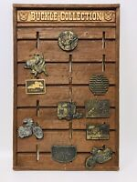 """Belt Buckle Collection & Collection Faux Wooden Board Holds 18 - 22 X 14"""""""