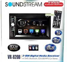 "Soundstream VR-620B 2-Din Touchscreen DVD/CD/SD 6.2""LCD Bluetooth USB Car Stereo"
