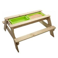 Children / Kids Garden Sand Pit And Picnic Table Set (Does Not Include Sand)
