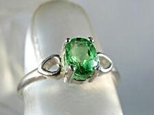 TSAVORITE (Garnet) - Bright Green Solitaire 925 Sterling Silver Ring 0.95 ct.