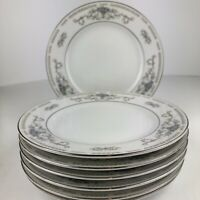 "Wade Diane Pattern Fine Porcelain China 6 3/8""Dessert / Bread Plates, Set of 6"