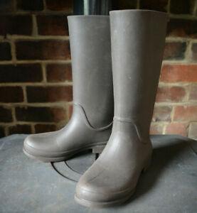 CROCS Brown Knie High Wellies Wellington Rubber Rain Waterproof Boots W9 7 39-40