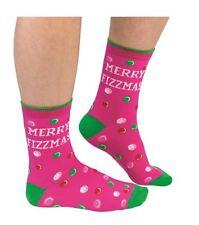 Merry Fizzmas Ladies Novelty Christmas Socks - Great Gift for Women - Pink Socks