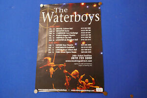 """THE WATERBOYS HAND SIGNED CONCERT POSTER 2007 27""""X20"""" EX"""