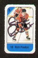 Rich Preston signed autograph auto 1982-83 Post Cereal NHL Hockey Card