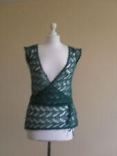 Womens jumper/ shrug by Miss Selfridge, size 8, green, mohair