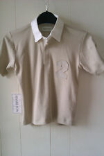 Lovely 100% Cotton Beige Rugby Style Shirt from Hamilton, Age 4 years - BNWT!!