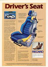 1977 Recaro Driver's Seat - Classic Vintage Advertisement Ad D100