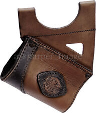 Leatherworks LARGE Brown Leather Quality Sword Holder Heavy-Duty Carry LARP SCA
