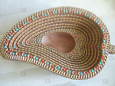 Wooden decorated bowl (Indian)