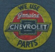"""Retro Style """"We Use Genuine CHEVROLET Parts"""" Tin Sign SS T Shirt Size XXL"""