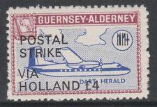 Cinderella 6652 - 1971 ALDERNEY AIRCRAFT opt'd POSTAL STRIKE VIA HOLLAND £4