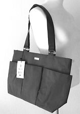 Baggallini E/W East West Tote Large Shoulder Bag Handbag Classic Black Nylon NWT