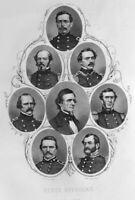 Civil War CONFEDERATE REBEL OFFICERS ROBERT LEE DAVIS ~ 1862 Art Print Engraving
