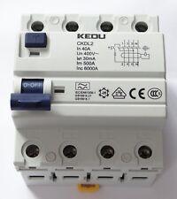 KEDU FI Schalter 4 polig 40A 30mA 0,03 A FI Schutzschalter FI-Schalter RCCB VDE